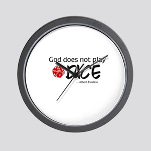 god does not play dice Wall Clock