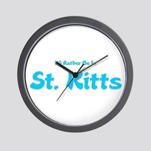 I'd Rather Be...St. Kitts Wall Clock