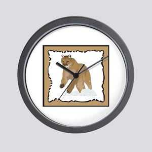 FRAMED COUGAR Wall Clock