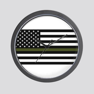 Thin Blue Line Decal - USA Flag - Red, Wall Clock