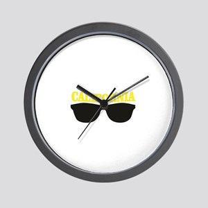 yellow cali shades Wall Clock