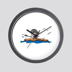 Kayak Girl Wall Clock