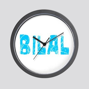 Bilal Faded (Blue) Wall Clock