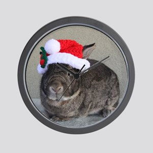 Bunny Christmas Ornament Wall Clock