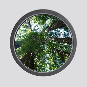 up into treetops Wall Clock