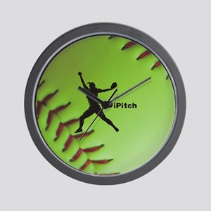 iPitch Fastpitch Softball (right handed Wall Clock