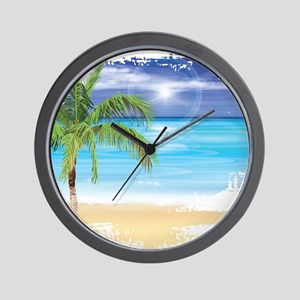 Beach Scene Wall Clock