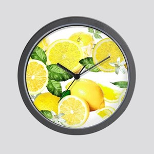 Acid Lemon from Calabria Wall Clock