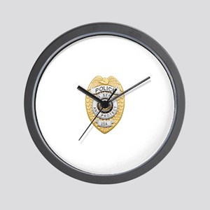 Police Badge Wall Clock