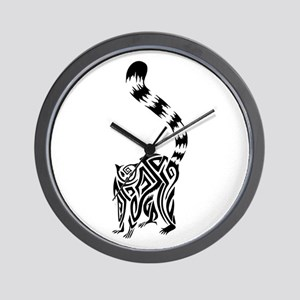 438add45f Tribal Monkey Tattoo Wall Clocks - CafePress