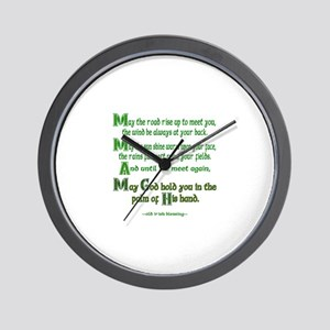 "Irish Blessing ""May the Road"" Wall Clock"