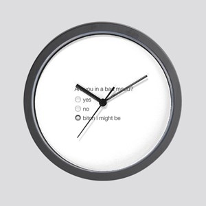 Are you in a bad mood ? Wall Clock