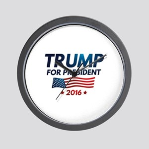 Trump For President Wall Clock