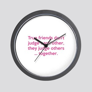 True Friends Wall Clock