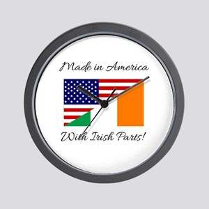 Made in America with Irish Parts Wall Clock