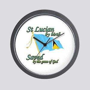 St lucian by birth Wall Clock