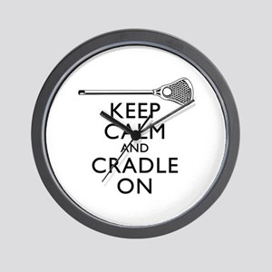 Keep Calm And Cradle On Wall Clock