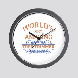 Tree Trimmer Wall Clock