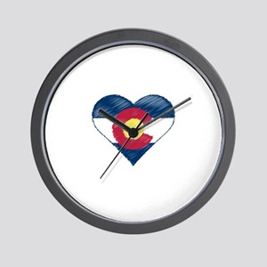 I Love Colorado Wall Clock