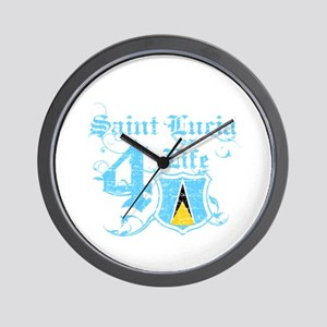 Saint Lucia for life designs Wall Clock