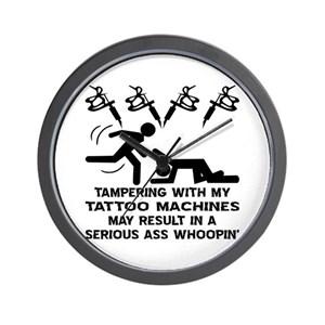 1459a09ae Tattoo Flash Wall Clocks - CafePress
