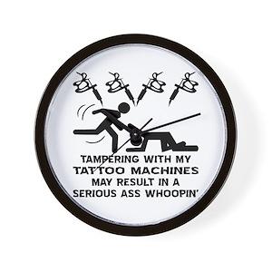 1459a09ae Tattoo Flash Wall Clocks - CafePress
