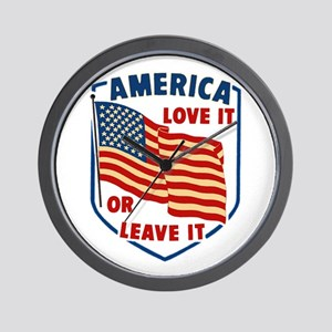 America Love it Wall Clock