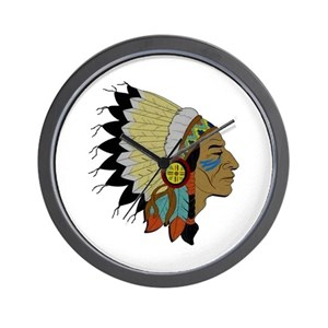 4007fa898 Native American Medicine Wheel Wall Clocks - CafePress