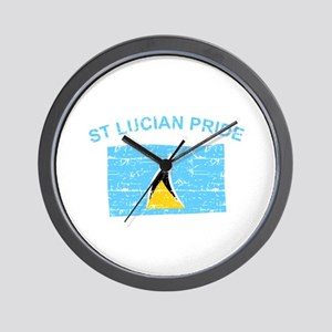 St Lucian Pride Wall Clock