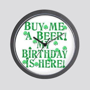 Buy Me a Beer Irish Birthday Wall Clock