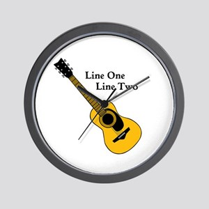 Custom Guitar Design Wall Clock