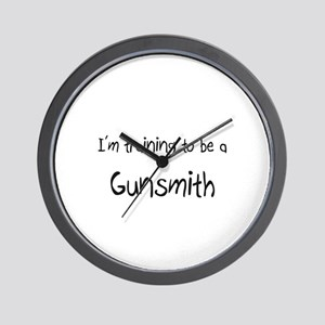 I'm training to be a Gunsmith Wall Clock
