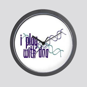 I Play with DNA Wall Clock
