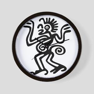 438add45f Tribal Monkey Tattoo Wall Clocks - CafePress