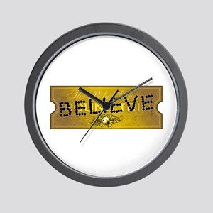 Polar Express Punched Ticket - BELIEVE Wall Clock