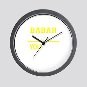 BABAR thing, you wouldn't understand! Wall Clock