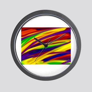 Gay rainbow art Wall Clock