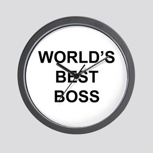 """World's Best Boss"" Wall Clock"