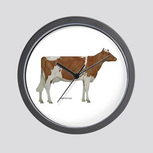 Guernsey Milk Cow Wall Clock
