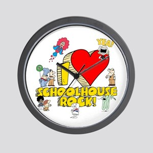 I Heart Schoolhouse Rock! Wall Clock