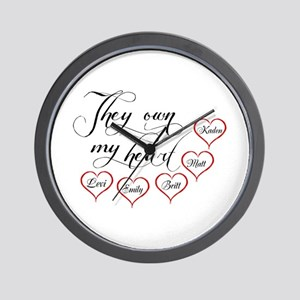 Children They own my heart Wall Clock