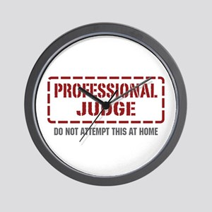 Professional Judge Wall Clock