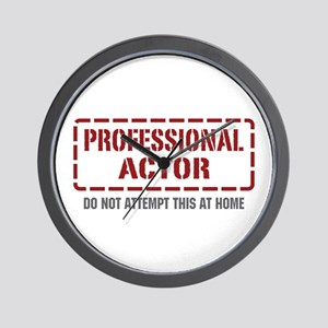 Professional Actor Wall Clock