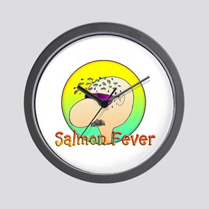 SALMON FEVER Wall Clock