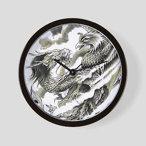 d1c054c05 Dragon Phoenix Tattoo Flip Flops Wall Clock