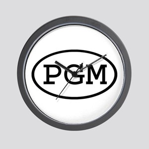PGM Oval Wall Clock