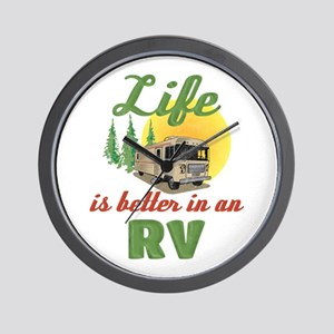 Life's Better In An RV Wall Clock