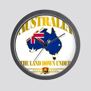 Land Down Under Wall Clock