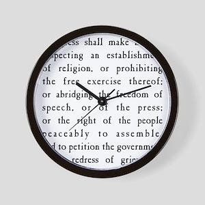 Freedom Of Speech Wall Clocks - CafePress