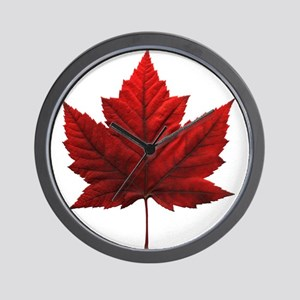 Canada Maple Leaf Souvenir Wall Clock